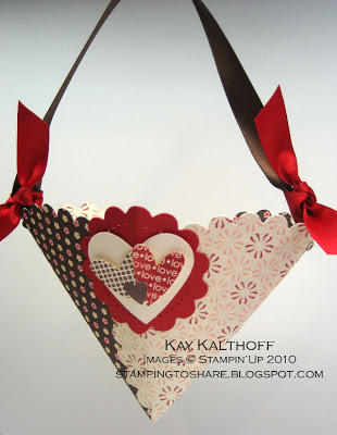 stampqueen17 over at stampin addicts inspired me with a delightful hanging valentine basket that you can see for yourself by clicking here