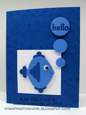 4/29 Quick & Easy Fishy Friend Card