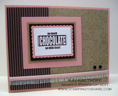 2/23 Stampin' Up! Eat Chocolate