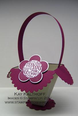 4/28 Stampin' Up! For You Flower Basket