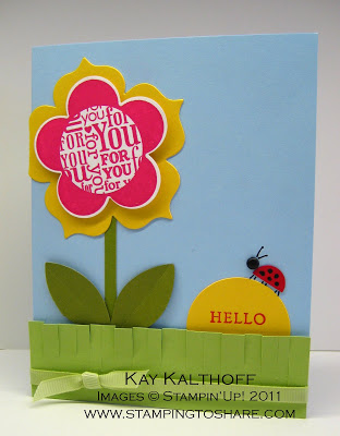 4/25 Stampin' Up! For You Flower