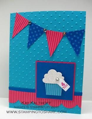 7/11 Stampin' Up! Cupcake/Pennant Punch