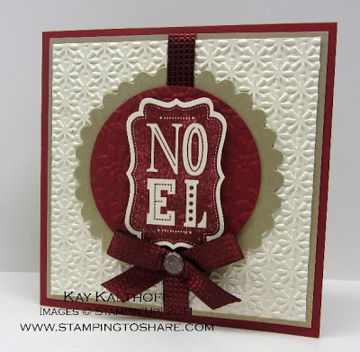 9/28 Stampin' Up! Warmest Wishes Noel