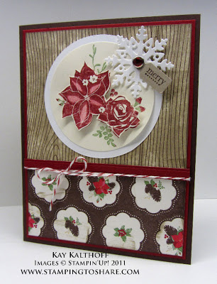 9/30 Stampin' Up! Pines & Poinsettias