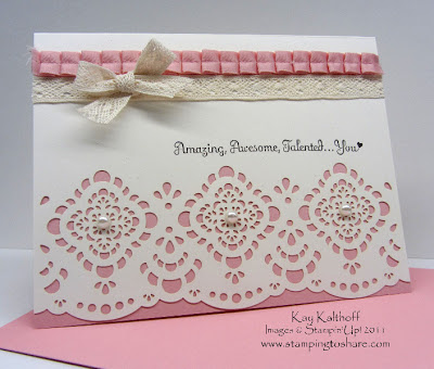 12/28 Stampin' Up! Perfect Words on Designer Cuts
