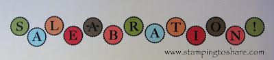 1/29 Stampin' Up! Sale-a-bration Big Shot Banner
