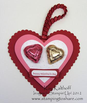 1/31 Stampin' Up! Valentine Favor with Heart Framelit Dies