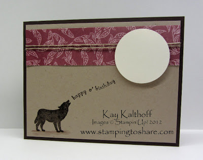 3/30 Stampin' Up! Nature Silhouettes for a Manly Birthday Card