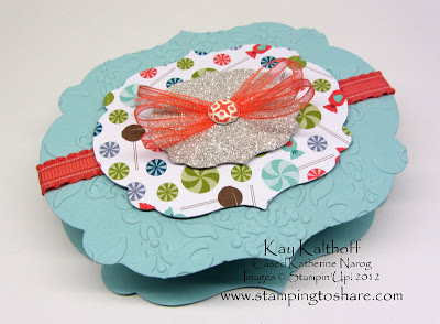 3/27 Stampin' Up! Sweet Shop Treat Holder made with the Big Shot