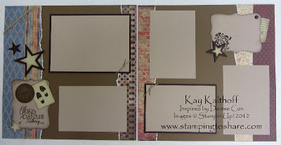 4/27 Stampin' Up! 12×12 Daring Adventure Pages