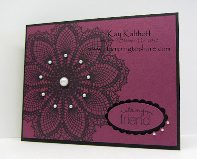6/30 Stampin' Up! Hello Doily