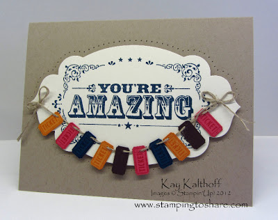 7/28 Stampin' Up! You're Amazing Convention Make & Take