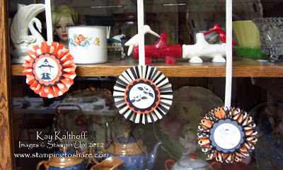 9/25 Stampin' Up! Googly Ghouls Halloween Rosettes with Video How To
