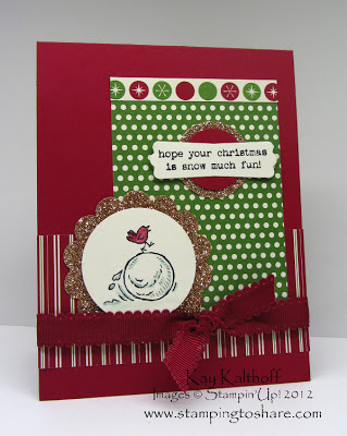 11/26 Stampin' Up! Snow Much Fun!