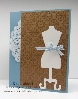 4/27 Easy and Elegant Dress Form Card