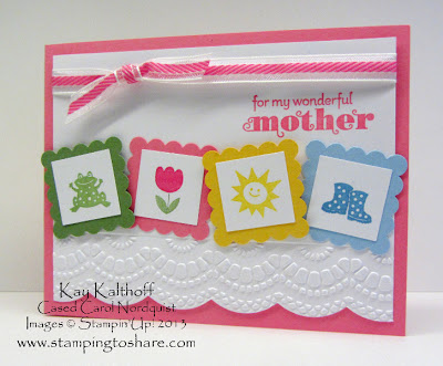 4/30 Mother's Day Spring Sampler Card