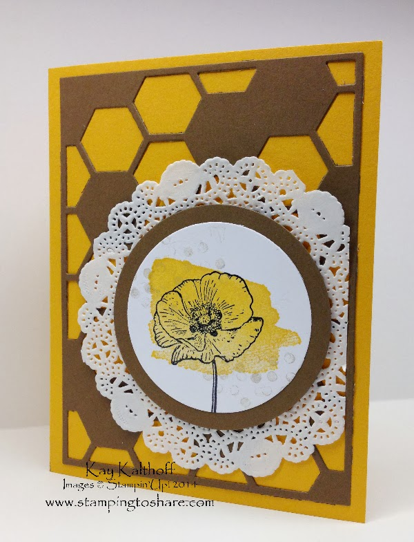 Happy Watercolor with Hexagon Hive Die and How To Video