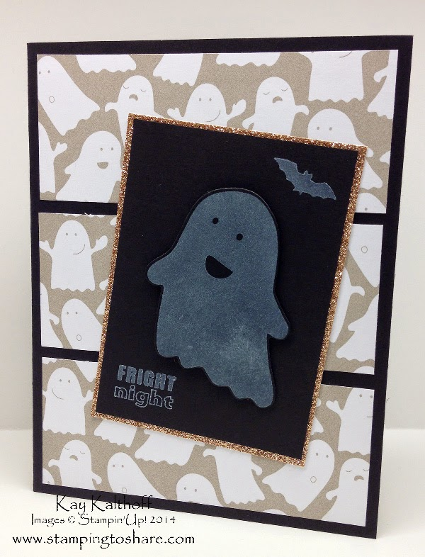 Fall Fest Ghost Card with How To Video and pics from Founder's Circle