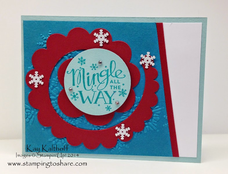 Stampin' Up! Mingle All the Way with the Spiral Flower Die