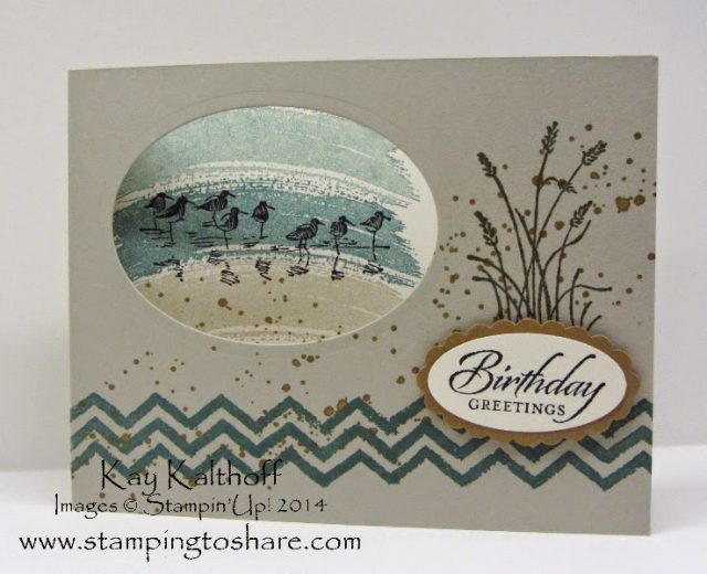 Masculine Birthday Card With A How To Video Stamping To Share