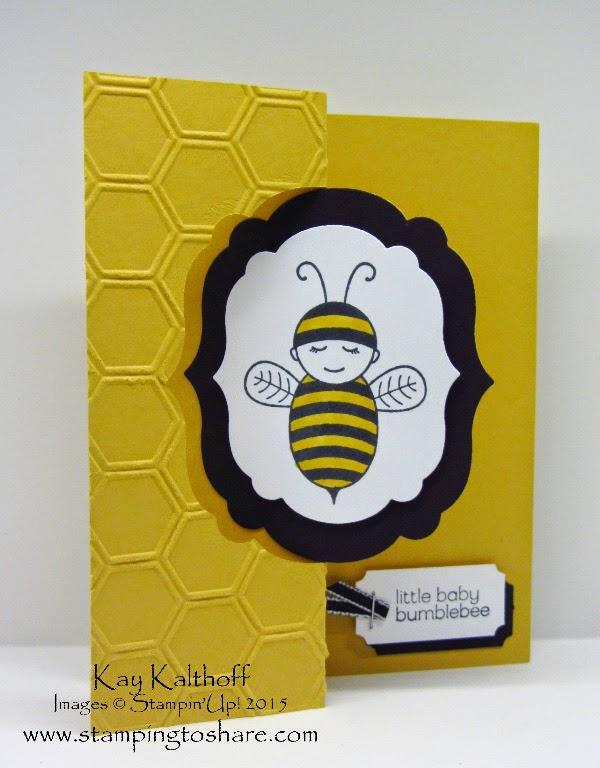 Baby Bumblebee Label Framelits Flip Card