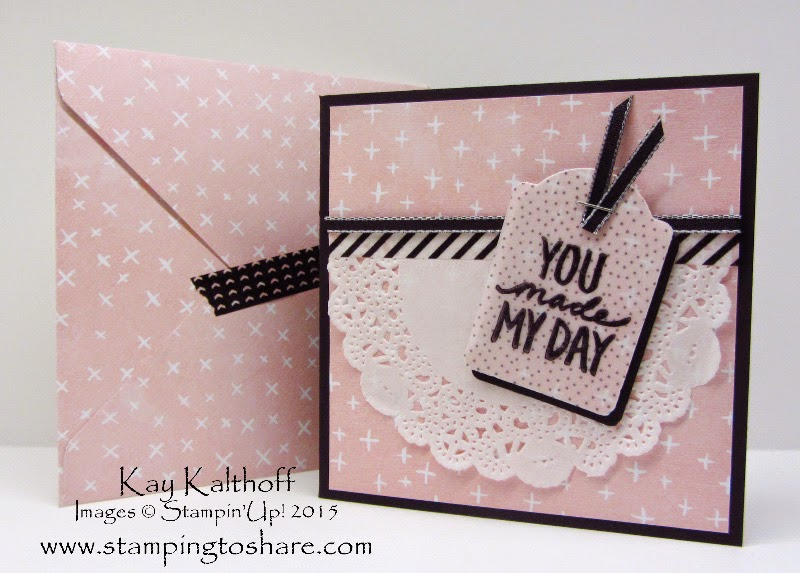 Best Day Ever with Sheer Perfection Vellum & Matching Envelope PLUS a Video Tutorial!