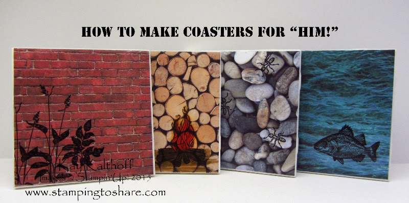 "Adventure Bound Coasters for ""Him"" with a How To Video"