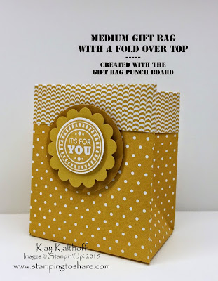 Gift Bag Punch Board! Plus How to Video to make a Gift Bag with a Fold Over Top