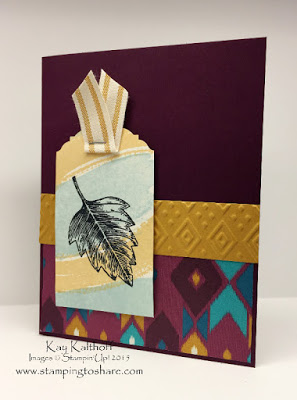 Vintage Leaves with Bohemian Designer Series Paper + How To Video
