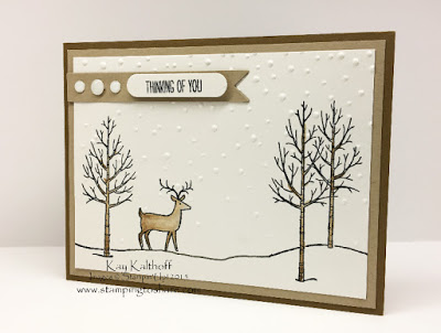 Stampin' Up! White Christmas – Masculine Thinking of You Card with How To Video