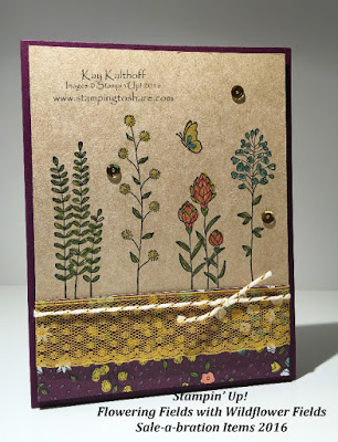 Stampin' Up! Flowering Fields Sale-a-bration 2016 with How To Video