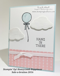 Stampin' Up! Honeycomb Happiness Balloon Card with How To Video
