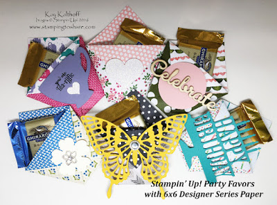 Fast, Easy and Super CUTE Party Favors with 6×6 Stampin' Up! Paper – Video Included!!!