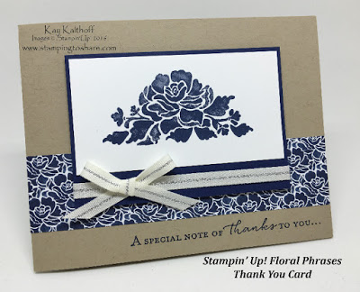 How to Make a Floral Phrases Thank You Card with How To Video
