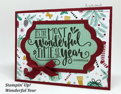 """Announcements Plus a """"Wonderful Year"""" Sneak Peek into the Holiday 2016 Catalog with How To Video!"""