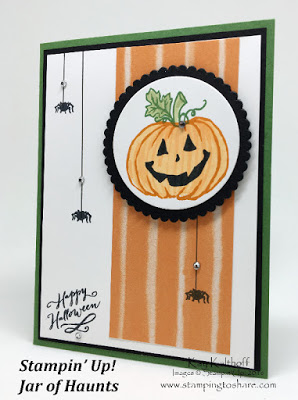 Stampin' Up! Jar of Haunts without the Jar! Not too Scary! How To Video!