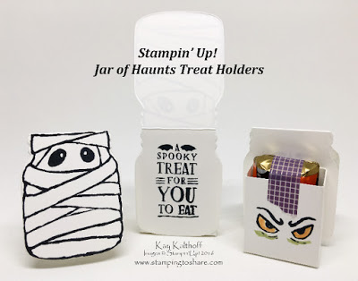 Create Cute Mummy Treat Holders with Stampin' Up!'s Jar of Haunts Includes How To Video