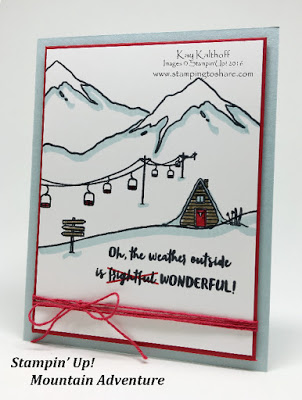 Stampin' Up! Mountain Adventures created by Stamping to Share