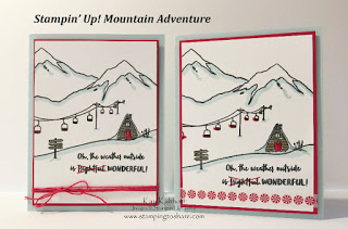 Stampin' Up! Mountain Adventures Ski Resort created by Stamping to Share