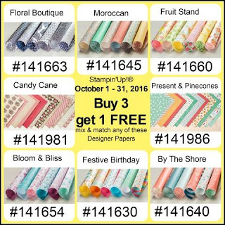 Buy Three Get One Free Paper Sale at Stampin' Up!