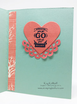 Feminine Wherever You Go created with Stampin' Up! Products, Kay Kalthoff Stamping to Share, By the Shore
