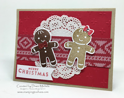 Gingerbread Christmas Card with Cookie Cutter Christmas from Stampin' Up!