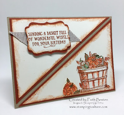 Stampin' Up! Diagonal Front Fold Easel Card, Stamping to Share, Basket of Wishes