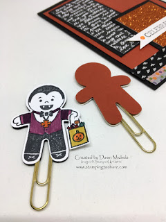 Stampin' Up! Cookie Cutter Halloween, Stamping to Share, Halloween Card with Paperclip Figures