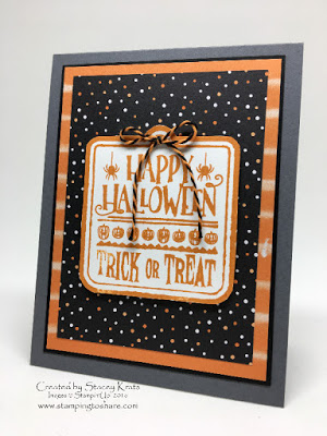 Stampin' Up! Halloween Treat Card, Stamping to Share