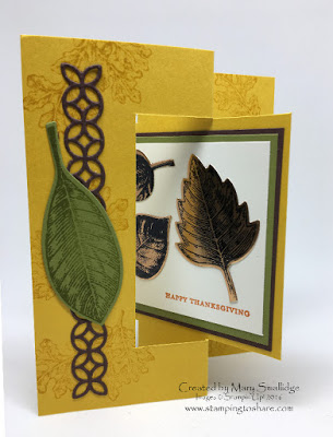 Vintage Leaves Flip Fold Card Stampin' Up! Stamping to Share