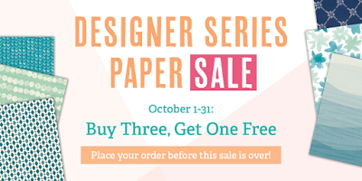 Buy Three Get One Free Designer Series Paper Sale Stampin' Up! and Stamping to Share