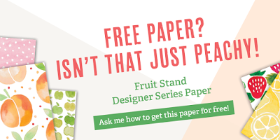 Fruit Stand Designer Series Paper, Stampin' Up!, Stamping to Share