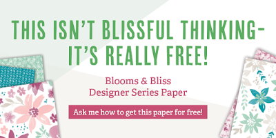 Blooms & Bliss Designer Series Paper, Stampin' Up!, Stamping to Share