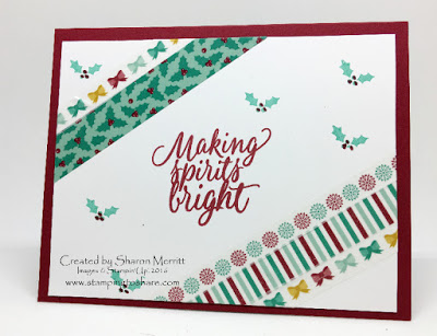 Stamping to Share, Stampin' Up! Tin of Tags, Christmas Card